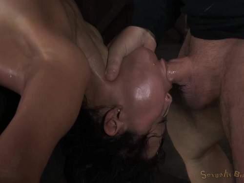 Mia Austin deep throat fuck in amazing pose - Mia Austin, close up