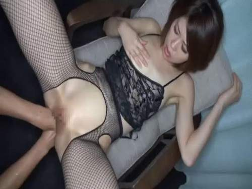 Japanese wife gets double fisted homemade new 2017 - anal fisting, asian