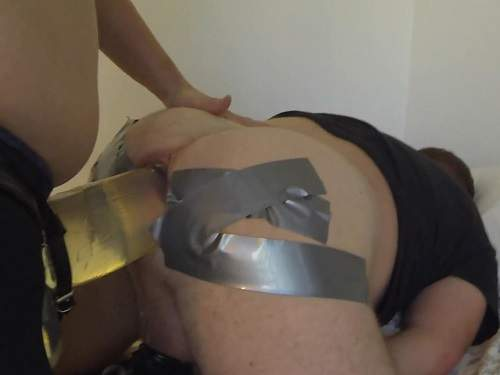 Horny wife femdom monster strapon to asshole her husband - strapon, huge dildo