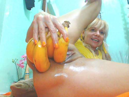 Hot horny mature vegetable porn and prolapse loose extreme closeup homemade - vegetable porn, amateur