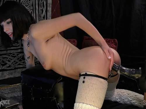 Huge horse dildo driller piercing pussy to Abigail Dupree - colossal dildo, dildo porn