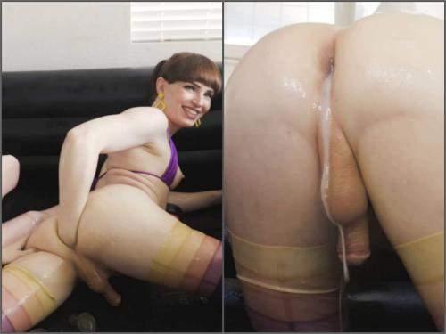 Natalie Mars slippery, slimy, egg-filled sluts – Full HD shemale porn - anal insertion, anal fisting