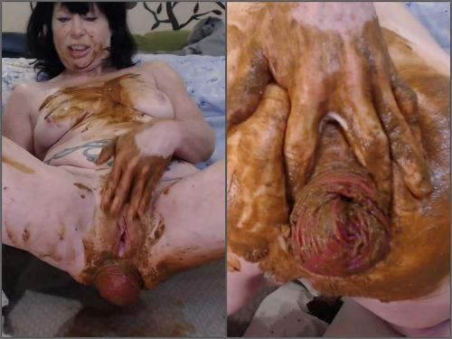 Awesome new scat pornstar fisted her shitting prolapse anal - scat wife, scat fisting