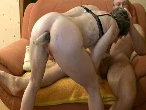 Incredible amateur granny awesome bottle anal fuck - anal insertion, closeup