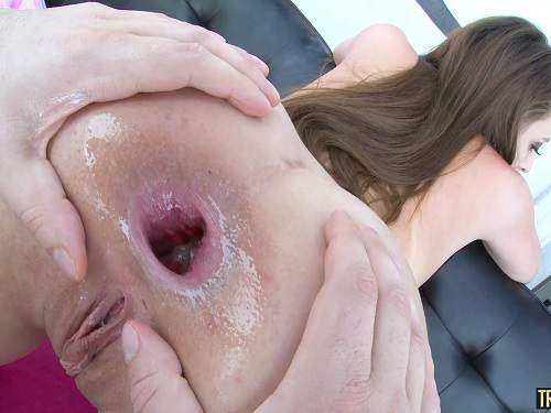 Gia Derva throat gaggers and anal gape ruined POV porn - Gia Derva, anal stretching