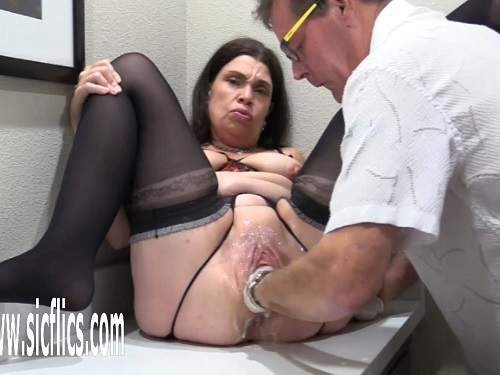 Crazy mature Hottabbycat gaping pussy loose again during fisting deep - pussy insertion, amateur fisting