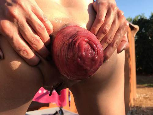 Maria Hella pool day part one – Premium user Request - prolapse ass, fisting outdoor