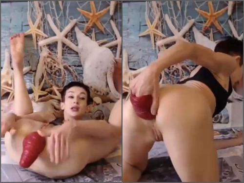 Webcam Clairet epic size anal prolapse loose - russian girl, anal prolapse