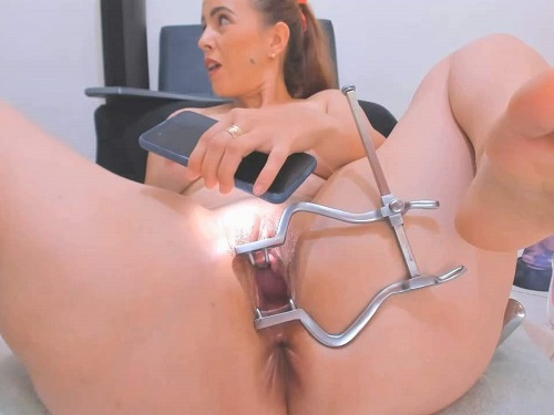 Big tits Anal__girl very closeup show inside pussy during speculum examination - speculum examination, pussy stretching