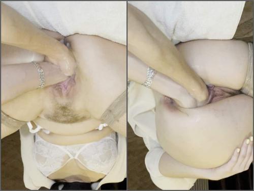 Nikoletta_Joy double pussy fisting – Premium user Request - amateur fisting, double penetration