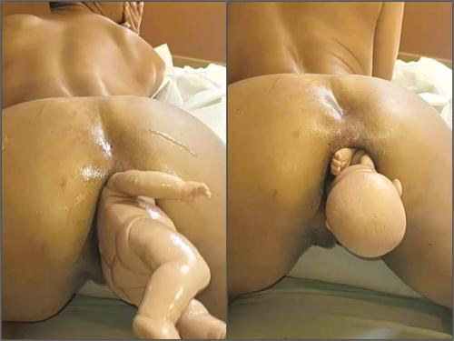 Amateur latina wife have birth from her huge anal gape - gaping anal, Double Anal