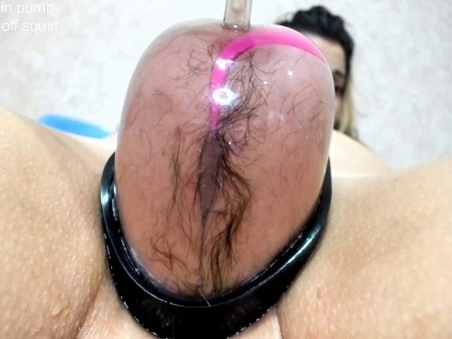 Hard anal rosebutt loose during vaginal pump with Only_Julia - hairy pussy, anal insertion